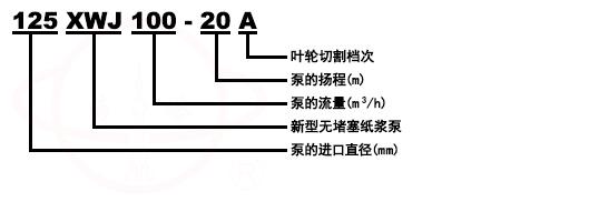 XWJ无堵塞纸浆泵型号意义